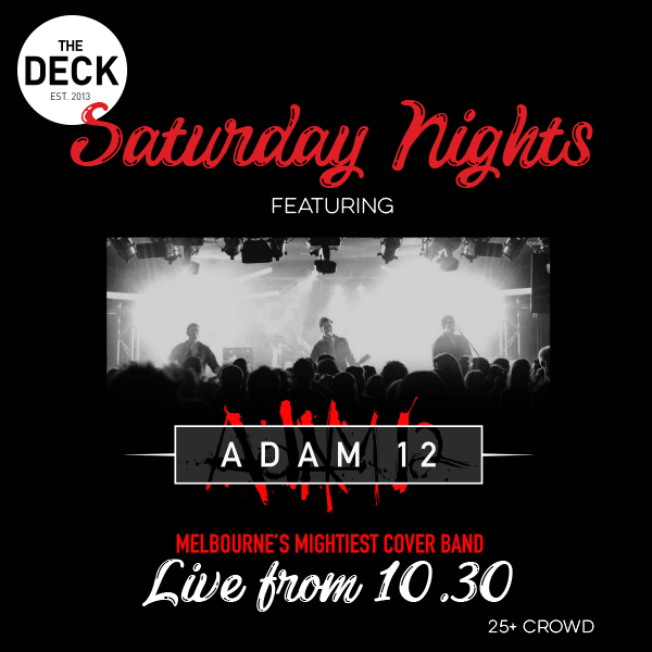 SATURDAYS @ THE DECK
